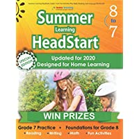 Summer Learning HeadStart, Grade 7 to 8: Fun Activities Plus Math, Reading, and Language Workbooks: Bridge to Success with Common Core Aligned Resources and Workbooks