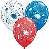 Rugby Balls & Posts Qualatex 11 Inch Latex Balloons x 5