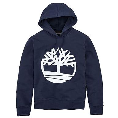 b7ed359535 Timberland Men's Seasonal Logo Hoodie Sweat Dark Navy Iris Tree Small