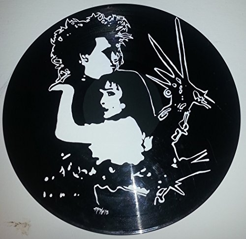 Hand painted Tim Burton Edward Scissorhands vinyl record version 4]()