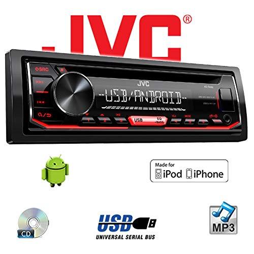 USB CD Einbauzubeh/ör Android Autoradio Radio JVC KD-R492 MP3 iPhone Einbauset f/ür Audi A3 8P AKTIV JUST SOUND best choice for caraudio