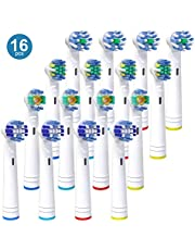 iTrunk Confezione da 16 testine di Ricambio per spazzolino Elettrico Oral B PRO 700 PRO 5000 PRO 6500, Include 4 Precision Clean, 4 Floss Action, 4 Cross Action & 4 3D White