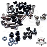 Kawasaki ZX6r 636 05-06 Motorcycle Fairing Bolt Kit, Screws, Bolts, Fasteners 636 Ninja 2005-2006