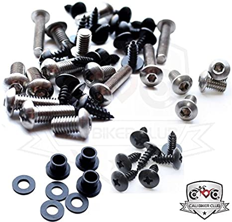 Kawasaki ZX10r 08-09 Motorcycle Fairing Bolt Kit, Screws, Bolts, Fasteners Ninja 2008-2009