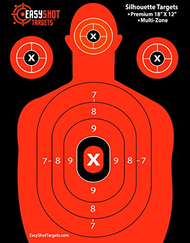 "EASYSHOT SILHOUETTE TARGETS For Shooting, High-Visibility Fluorescent Orange, Easy to See Your Shots Land, Heavy-Duty Paper Sheets 18"" X 12"" – 150 Free Repair Stickers, Close To Wholesale Prices! – DiZiSports Store"