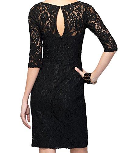 Langarm Damen Spitze Schwarz Kurz Brautmutterkleider Etuikleider Charmant Burgundy Abschlussballkleider Abendkleider tq6TwdBxn