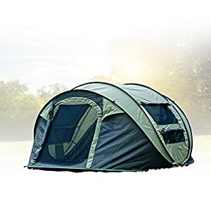fivejoy instant 4 person pop up tent set up in lightning speed easy fold up into. Black Bedroom Furniture Sets. Home Design Ideas