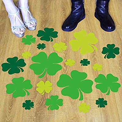 939c666329d5e Shamrock Floor Decals Lucky Clover Leaves for St. Patrick's Day Wedding  Home Classroom Decoration