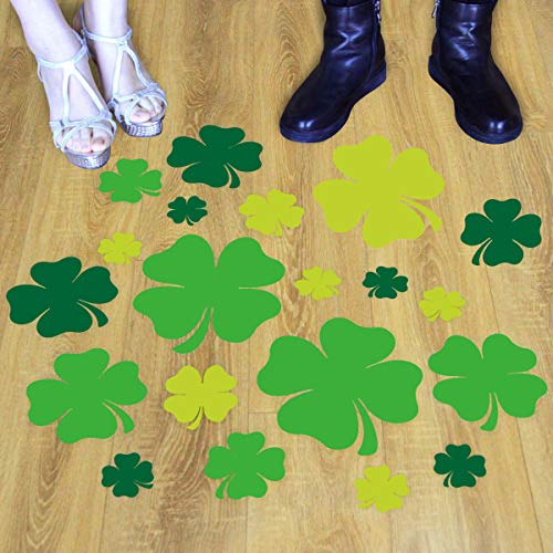 Shamrock Floor Decals Lucky Clover Leaves for St. Patrick's Day Wedding Home Classroom Decoration -