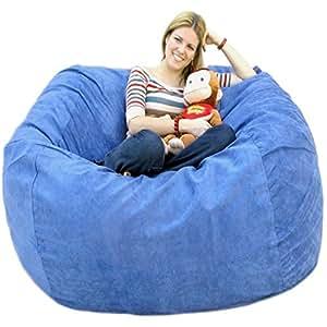 cozy sack 5 feet bean bag chair large sky blue kitchen dining. Black Bedroom Furniture Sets. Home Design Ideas