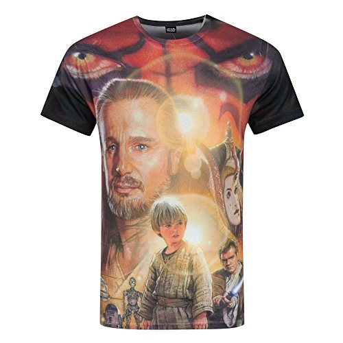 Star Wars Mens Phantom Menace Sublimation T-Shirt (L) (Multicolored)