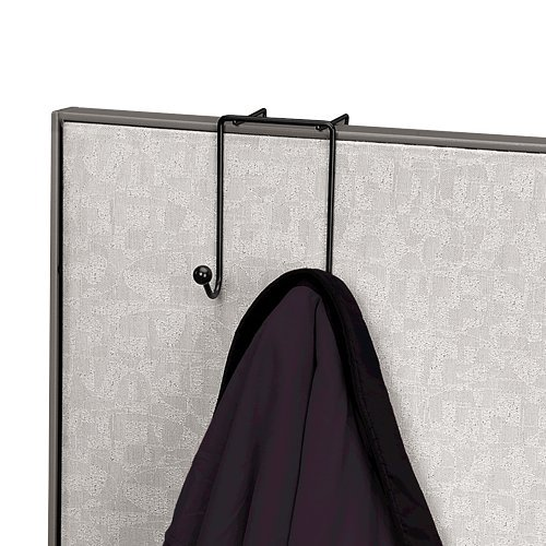 Hook Partition - Fellowes Wire Partition Additions Double Coat Hook (75510)