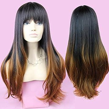 Wiged Vogue Haare Shg Schwarz Braune Lange Haare Perücke A