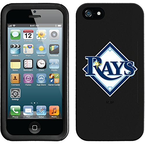 Coveroo New Guardian Case for iPhone 5s/5 - Retail Packaging - Black/Tampa Bay Rays Diamond