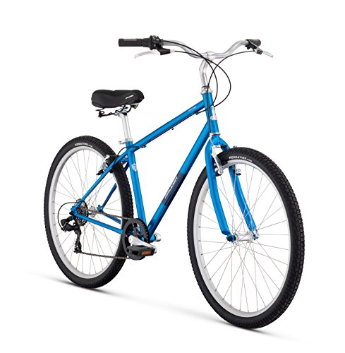 Raleigh Bikes Venture Comfort Bike, 17″/Medium, Blue For Sale