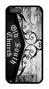 iPhone 5S Customized Unique Old South Church New Fashion TPU Black iPhone 5/5S Cases - Scenery Flowers