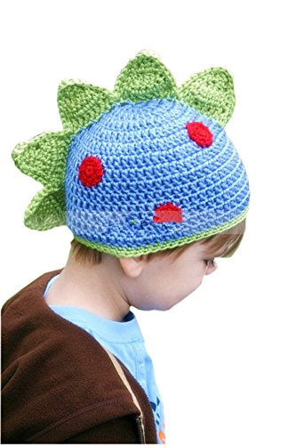 Infant Toddler Thick Colorful Dinosaur Crochet Knitted Winter Hat (International Dress Up Ideas)