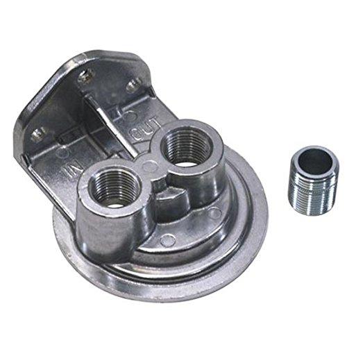 Single Remote Oil Filter Bracket, Vertical Outlet, 13/16-16 Thread (Filter Bracket Oil)