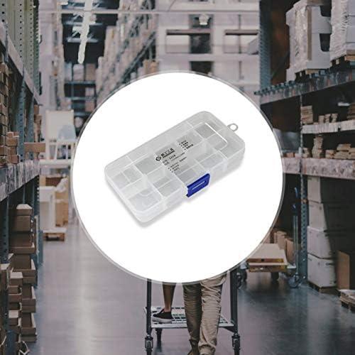 【berryause】 1218プラスチック工具箱透明工具箱電子部品ネジ収納箱電子プラスチック部品工具箱(透明)