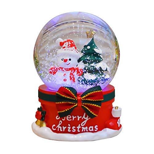 Claus Santa Music Box (Topaty Christmas Crystal Ball, Santa Claus Snowman House Music Box Creative Automatic Snowflake Rotating Music Boxes Home Decor Ornament Great Gift for Kids)