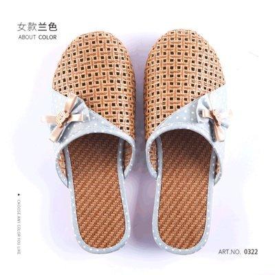 fankou Zapatillas Frescas Transpirables Verano Femenino Granja-Estancia Zapatillas Interiores Bow Tie, 37, Azul