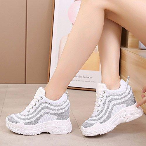 GTVERNH Damen damen Pumps HeelsSommer 12Cm Super - High - Sportschuhe Heels Atmungsaktivem Mesh Sportschuhe - Muffins Joker Freizeit Einzelne Schuhe e11b33