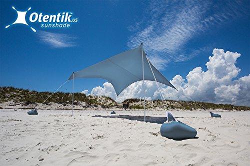 (Otentik Beach Sunshade - with Sandbag Anchors - The Original Sunshade Since 2011)