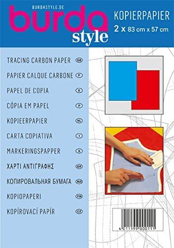 1100 von burda Art.-Nr Kopierpapier 2 x 83cm x 57cm rot und blau