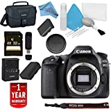Canon EOS 80D DSLR Camera (Body Only) USA Model Warranty Base Bundle