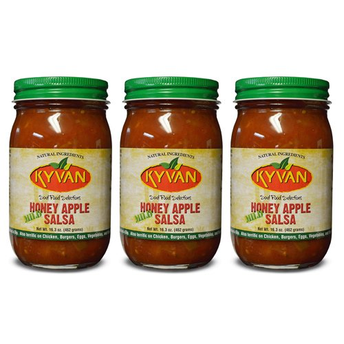 KYVAN Mild Honey Apple Salsa - 3 Pack
