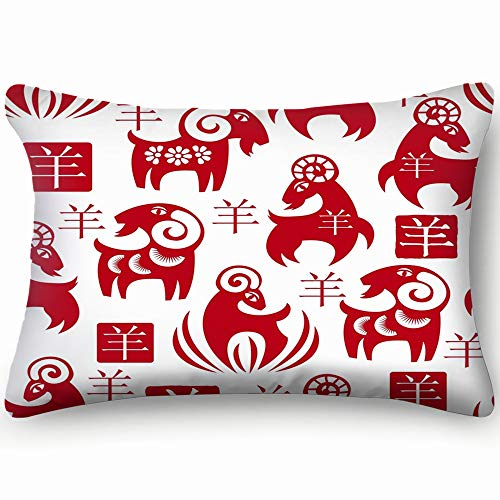 best bags Traditional Chinese Goats Or The Arts Year Throw Pillow Case Cushion Cover Double Side Design 20