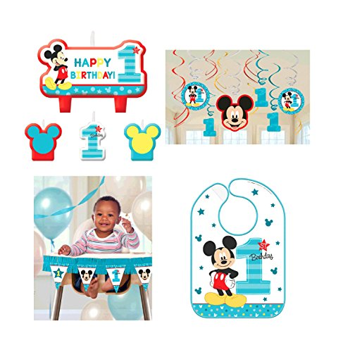 Amscan Mickey Mouse Fun to Be One 1st Birthday Party Kit