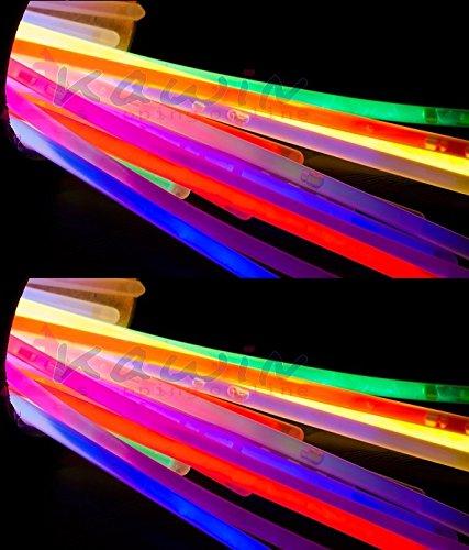 27 opinioni per 100 braccialetti luminosi fluo KAWIN Starlight DISCO GLOW