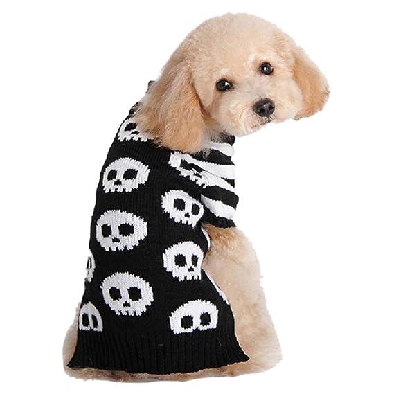 2 pcs Disfraz de Perro pequeño Patrón de Cabeza Esqueleto para la ...