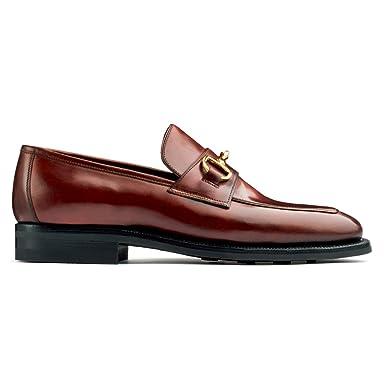 Enzo Bonafe Cordovan Horsebit Loafer 937518: No. 4 Cognac