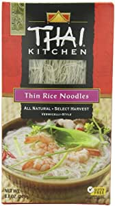 Thai Kitchen Gluten-Free Thin Rice Noodles, 8.8 oz. (Pack of 6)