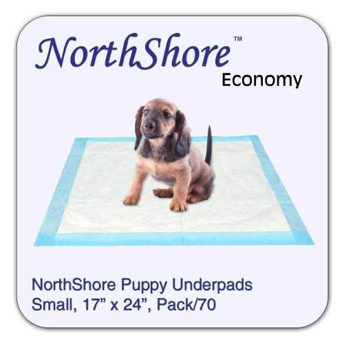 NorthShore Economy, 17 x 24, 6 oz, Puppy Pads, Small, Pack/70