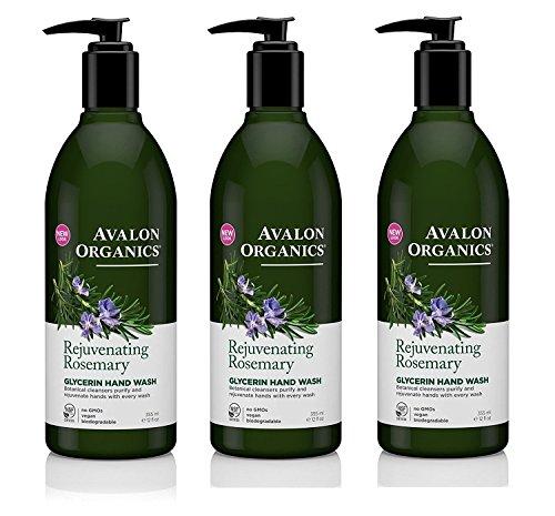 Avalon Glycerin Hand Soap Rosemary 12 oz (Set of 3) Avalon Organics Facial Cleansing Milk Lavender