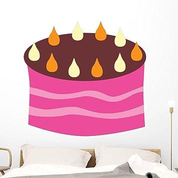 Amazon Pink Birthday Cake With Wall Decal Wallmonkeys Peel And