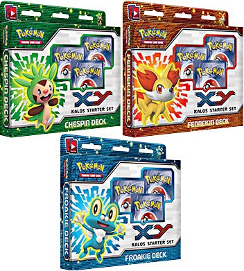 pokemon trading card game - xy kalos starter set - chespin deck - 4