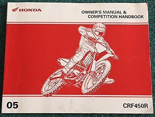 2006 honda crf450r owner s manual competition handbook honda rh amazon com 06 honda crf450r service manual 2006 honda crf450r repair manual