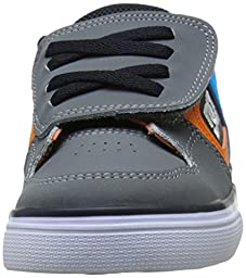 DC Pure V Youth Vulcanized Shoes Skate Shoe (Toddler), Armor/White/Orange, 5 M US Toddler