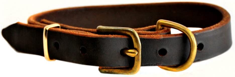 Dean and Tyler B Basic 4 years warranty Collar Super-cheap Dog Leather Brown
