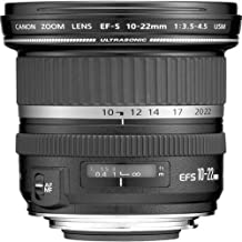 Canon 9518A002 EF-S - Wide-angle zoom lens - 10 mm - 22 mm - f/3.5-4.5 USM - Canon EF-S - for EOS 1000, 40, 450, 50, 500, 7D, Kiss F, Kiss X2, Kiss X3, Rebel T1i, Rebel XS, Rebel XSi