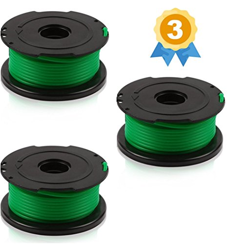BLACK+DECKER SF-080 compatible replacement Trimmer Spool (3-Pack), fit model GH3000 by Garden Ninja