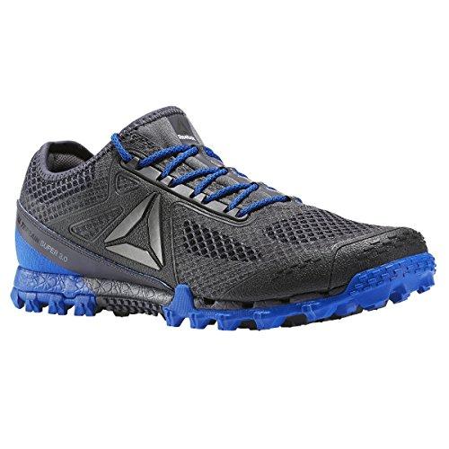 Reebok All Terrain Super 3.0 Shoe Men's Trail Running 14 Black-Ash Grey-Vital Blue-Pewter