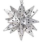 Moravian Star Light, Star Pierced Tin, Silver, 12''