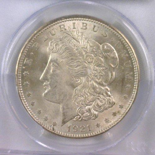 1921 Mint (1921 No Mint Mark Morgan Dollar Seller BU)