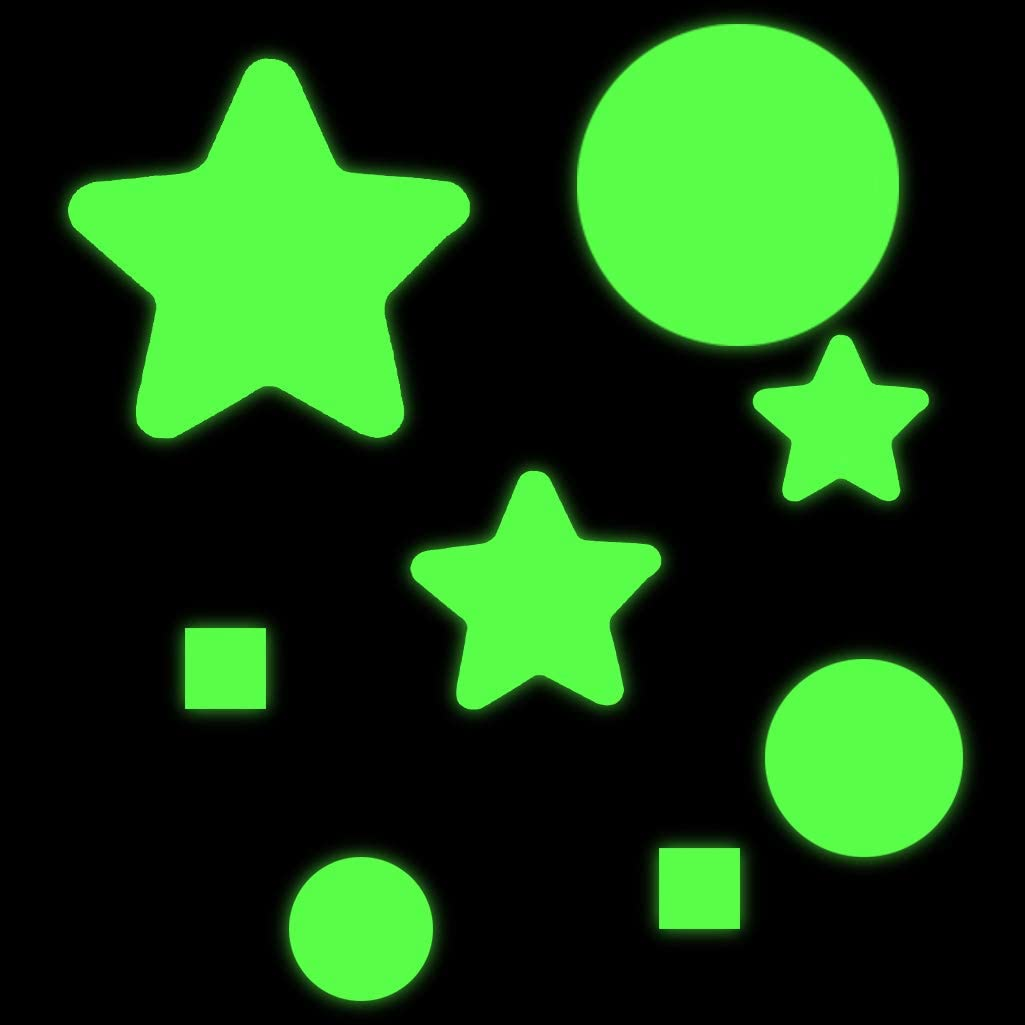 2 Sets Glowing Stars Circles Fengek 978 Pcs Ceiling Stickers Glowing in Dark Stars Circles Wall Stickers for Wall Decor Green Perfect for Kids Bedroom