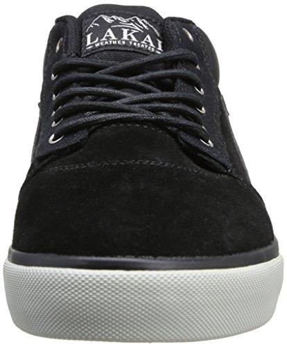 Lakai Griffin Mid - Zapatillas de Skateboarding de cuero hombre negro - Noir (Black Suede All Weather)